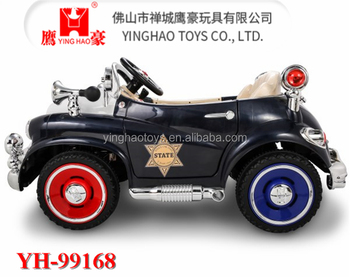 Toy Car For Kids To Drive Electric Ride On Police Style With R C