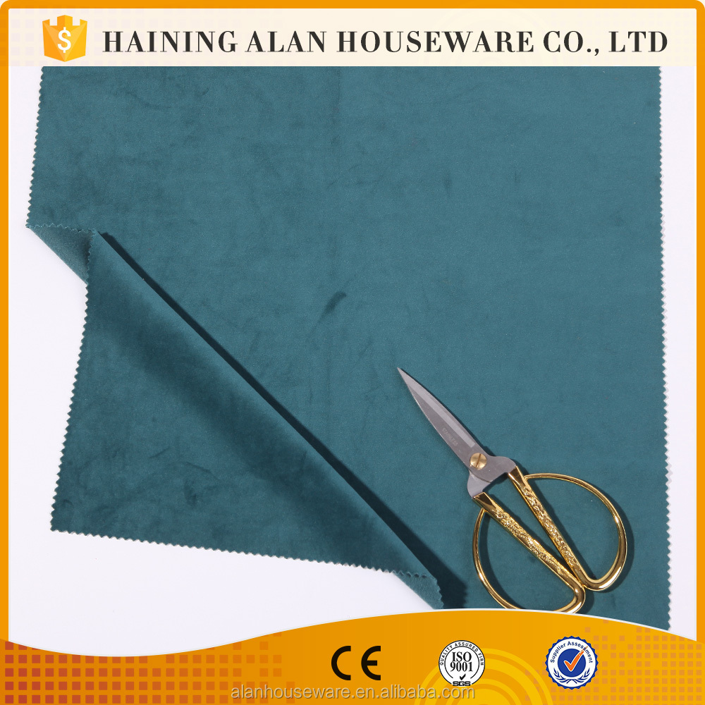 100 Polyester tricot velour mercerized cloth with soft hand feeling
