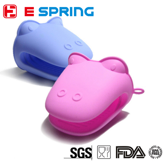 Silicone Pot Holder Hippo Pinch Grips Mini Oven Mitts