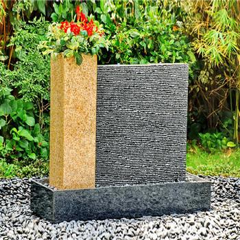 Moderne Garten Stein Wasser Wand Brunnen Mit Blumentopf Buy Wasser