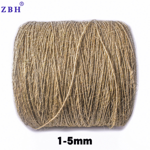 Diameter 1mm-5mm 100% Natural Colour 1 ply Sisal Jute Rope Price