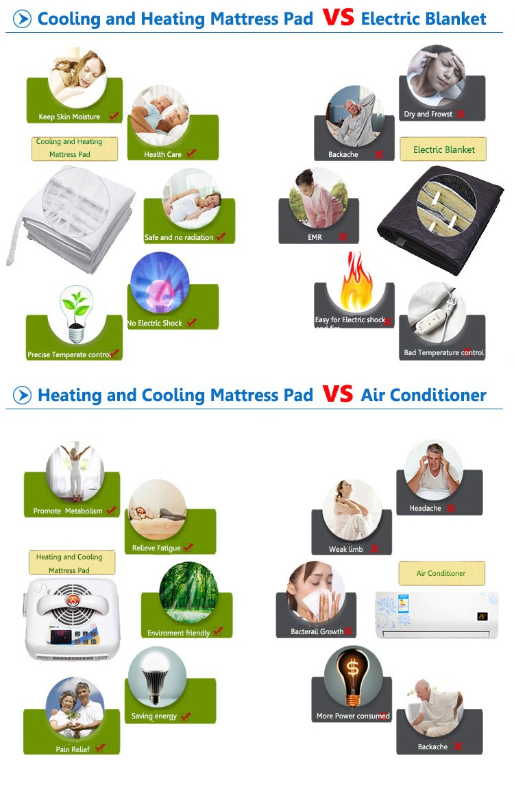 Queen Dual Zone Chilipad Cooling Heating Mattress Pad For