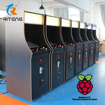 Games System Raspberry Pi 3 Video Game Cabinet Upright Arcade Machine For  Sale - Buy Upright Arcade,Arcade Games,Game Cabinet Product on Alibaba com