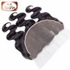 Indian human hair natural color body wave 13*6 lace frontal can make lace frontal wig