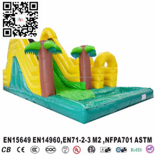Forest Theme giant Inflatable Water Slide Jungle Wet Pool Water Slide for sale
