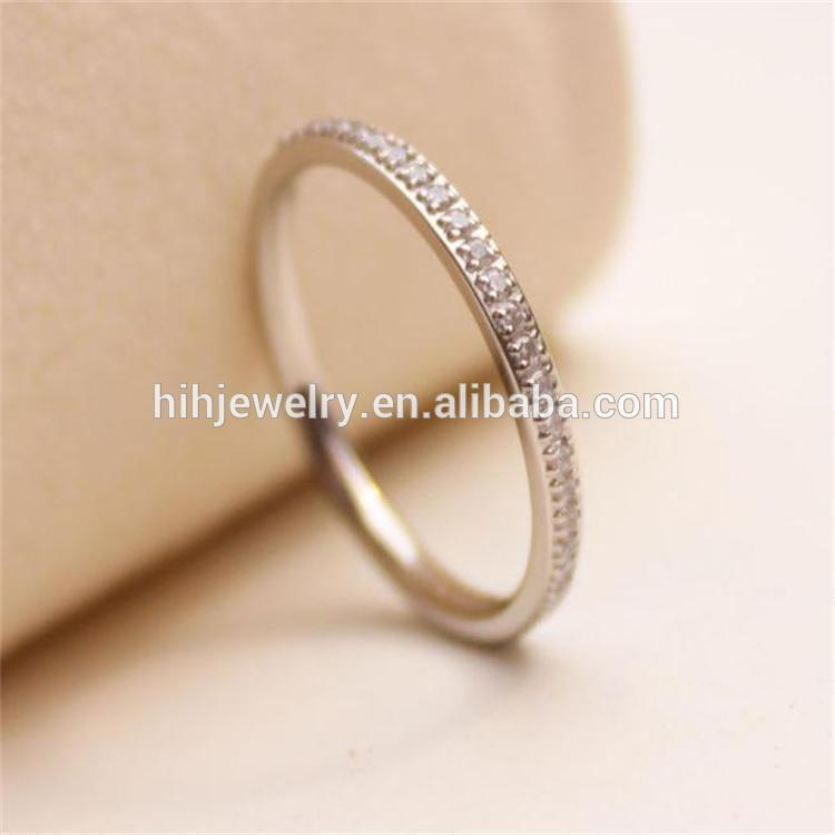 gold f wedding white plain shaped by simple l ring rings engagement bands style d
