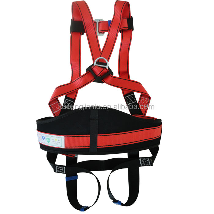 China supplier support back full body safety harness double hook