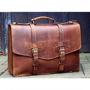 Wonderlijk Gepersonaliseerde Custom Echt Lederen Heren Aktetas Laptop HY-29