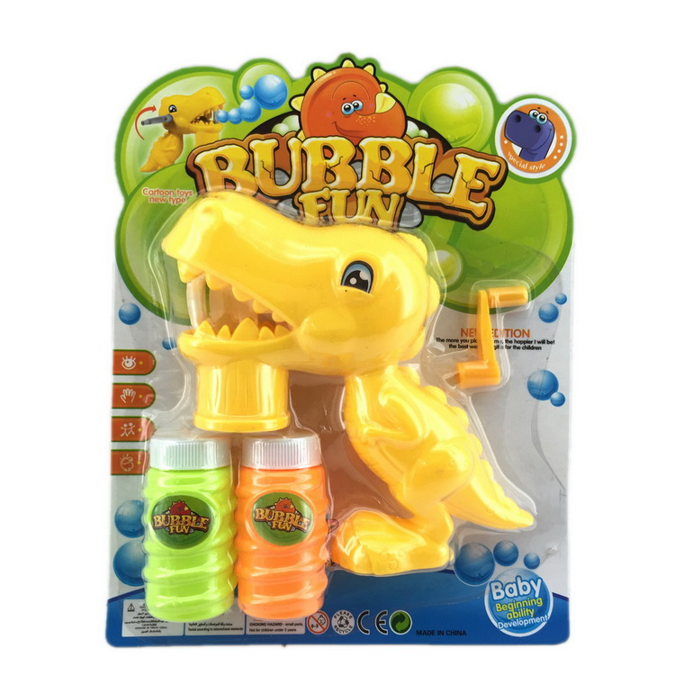 Novelty children plastic animal dinosaur bubble gun with no battery