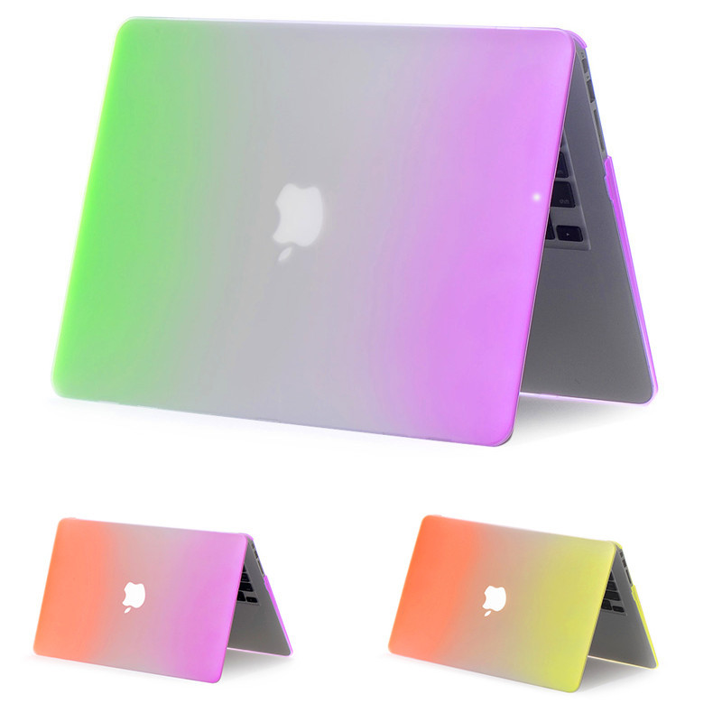 new styles 6e08b 3103c For Macbook pro Case Rainbow Matte Funda For Mac air Case Cover Book air  pro retina 11 13 15inch Bag For Apple Laptop Macbook