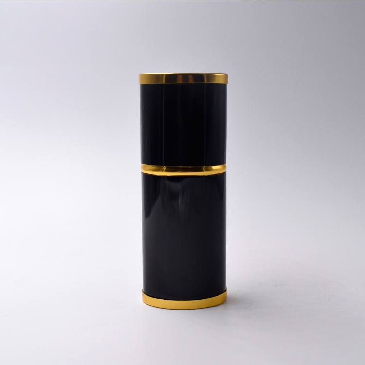 30ml black and gold high end voal perfume refillable atomizer glass bottle inner for men