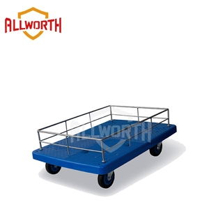 Moving Steel Service Cart with Guardrail