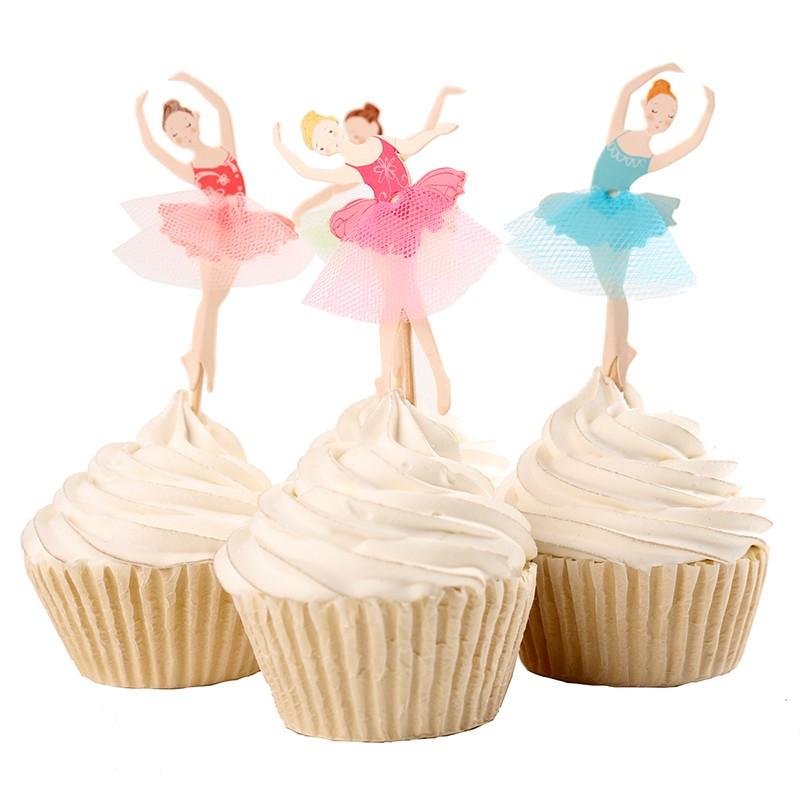 Compre Venta Al Por Mayor Envio Gratis 24 Piezas Angel Hada Cupcake