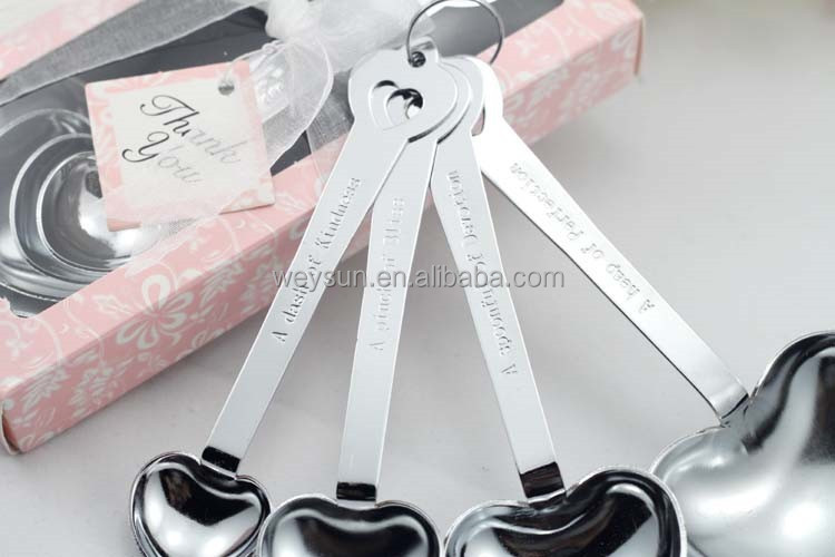 Wedding Favor-- Heart Measuring Spoons in Gift Box