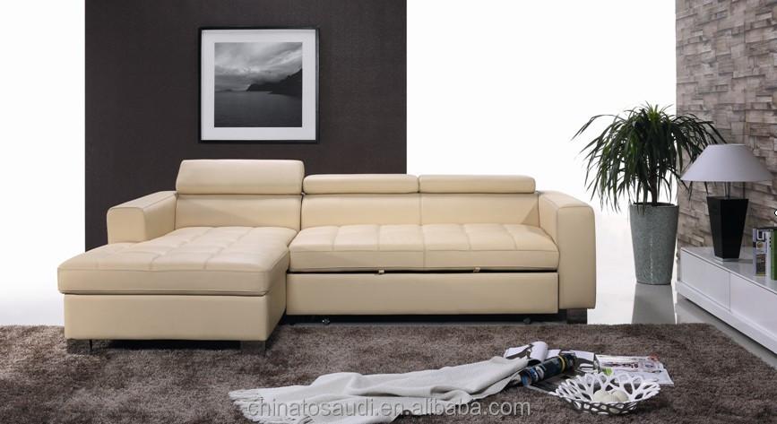 Beste- de verkoop van italiaanse lederen sofa bed/beige bruin bank ...