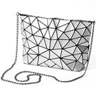 New Geometric Shoulder Clucths Totes Gift for Women Top-Handle with Zipper Closure Blingbling Satchel Bags Flaps