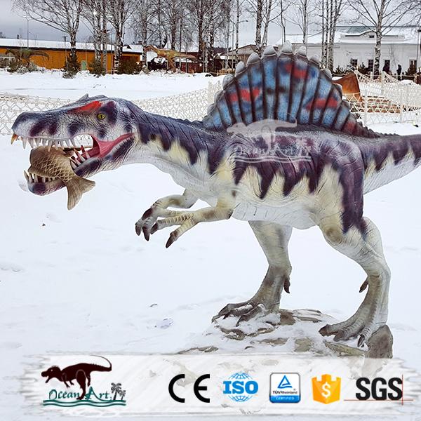oa dinosaurio figuras modelo de fibra de vidrio para la decoracin de jardn
