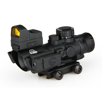 China Wholesale Airsoft Gun Accessories Hunting Optics Sight Optical 4x32  Air Rifle Scope With Mini Red Dot And Red Laser Sight - Buy Hunting