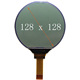 128x128 round lcd display black and white lcd display module