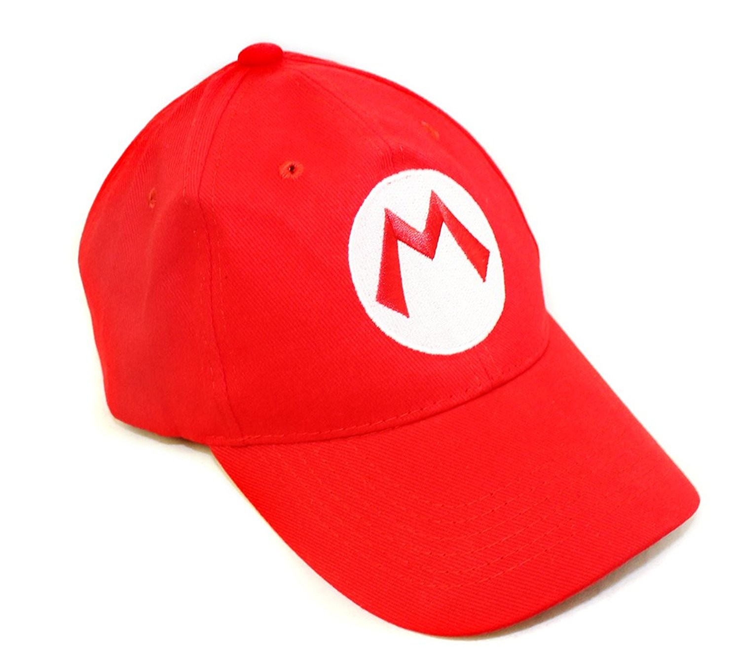 ed04a5b3636 Get Quotations · Super Mario Bros Hat - Red Baseball Cap - One Size Unisex  Cosplay