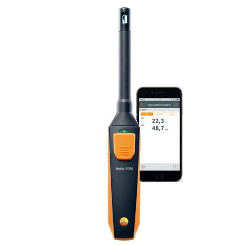 2016 New Testo 605 I - Thermo-hygrometer Smart And Wireless Probe ...