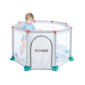 New design modern folding large acrylic rectangle best infant baby play yard playpen