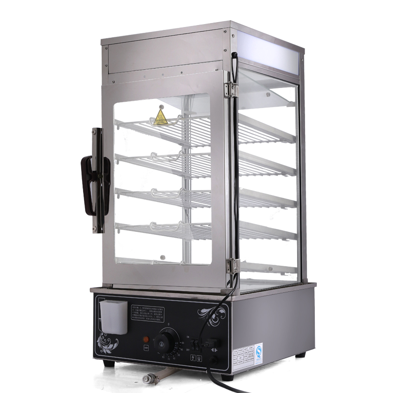 Transparent Food Display Cabinet/electric food steamer/stainless steel dim sum steamer/5 layer stainless bread steamer