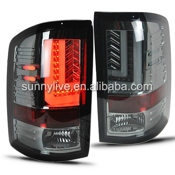 For GMC Sierra Led tail lamp 2014-UP Year Smoke Black Color SN