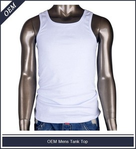 fb898bb14169c Men Blank Loose Fit Tank Tops