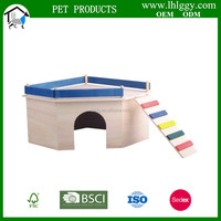 wholesale colorful wooden hamster house small animal cage pet toy