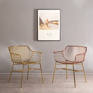 Leisure Pub Stool Metal Wire Chairs Wrought Iron Gold Wire Dining Chair Vintage Metal Wire Chairs