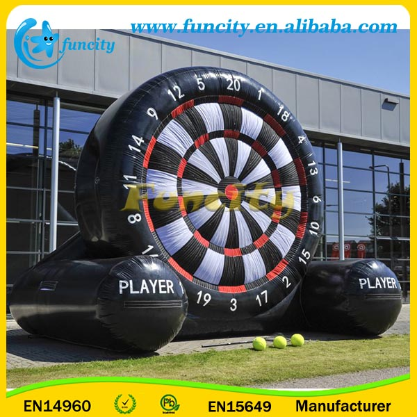 EN14960 Giant Outdoor Inflatable Foot Darts For Soccer Darts Game