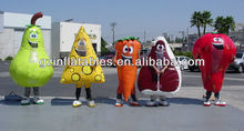 5 advertising inflatable cartoon model for fruit,vegetable,food