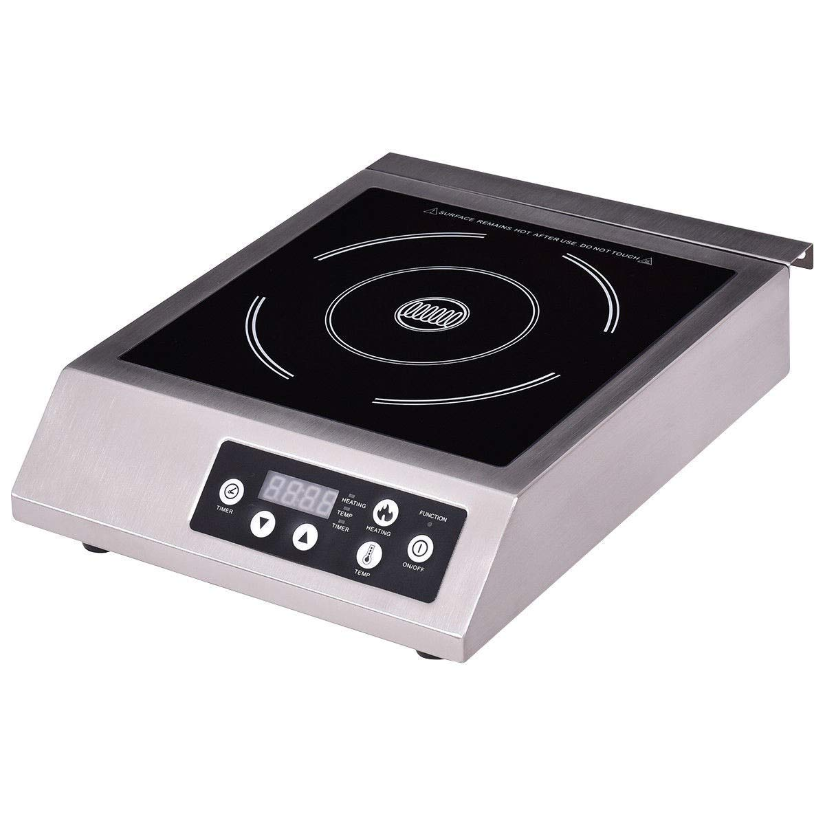 BeUniqueToday 1800 W Metal Single Burner Electric Induction Cooker, Single Burner Electric Induction Cooker With Digital LED Display & Push-Button Control, 1800 W Metal Single Burner Electric Induction Cooker Lightweight And Compact