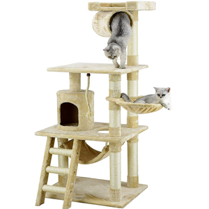 Speedypet With Toys Wood Pet Cat Tree/ Modern Luxury Large Cat Tree