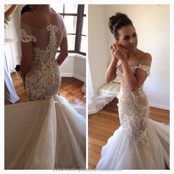 Sexy see through back elegant bridal dresses vestido de for Most sexy wedding dresses