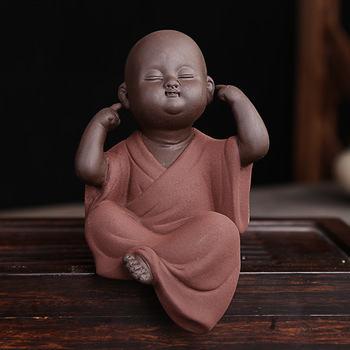 Ceramic Monk No Evil Hear/speak/see Figurine Assortment/cute ...
