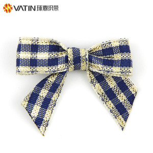 Pre-made Custom Handmade Polyester Gift Bow Tied Satin Ribbon