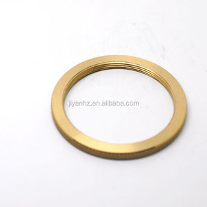 High quality CNC lathe turning threaded brass ring with knurled