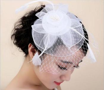 Wholesale woman sinamay solid color party wedding hat fashion lady church  hat with lace 9e625de9a81