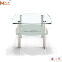 Tempered Glass Handy Side Table for Living Room Furniture