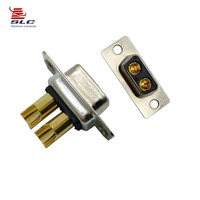 D-sub 2W2 female 180 degree straight conector solder type high power d-sub connector