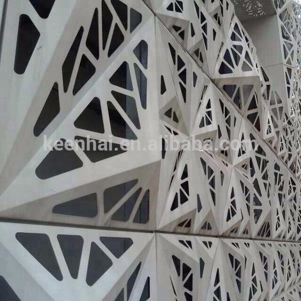 Multifunctional Outdoor Laser Cutting Aluminum Curtain Wall facade panel