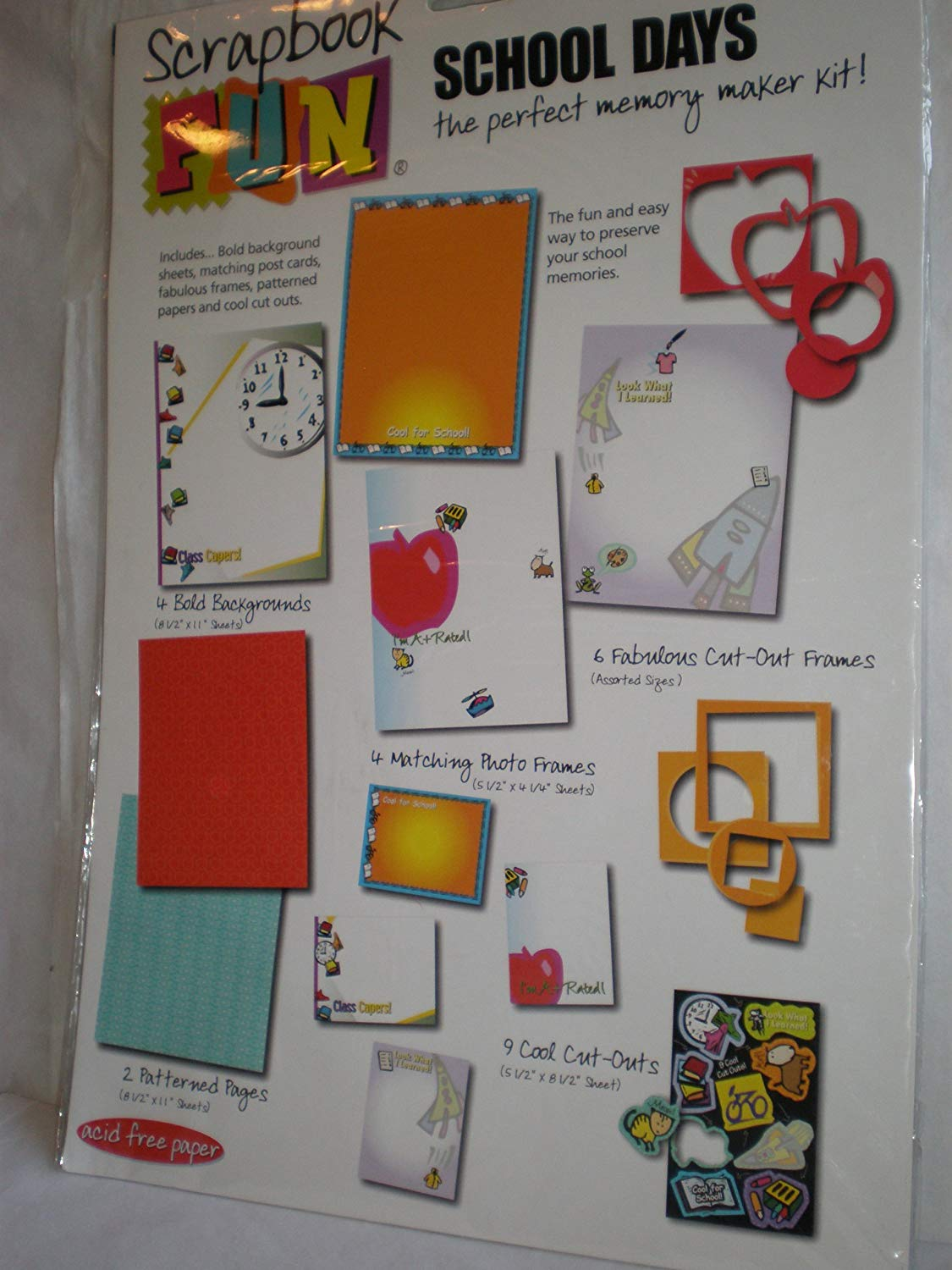 MCS Elementary School Themed Expandable Scrapbook Includes 10 Acid Free 12x12 Inch Pages