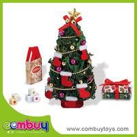 New design DIY toys assembled wooden mini snowing christmas tree