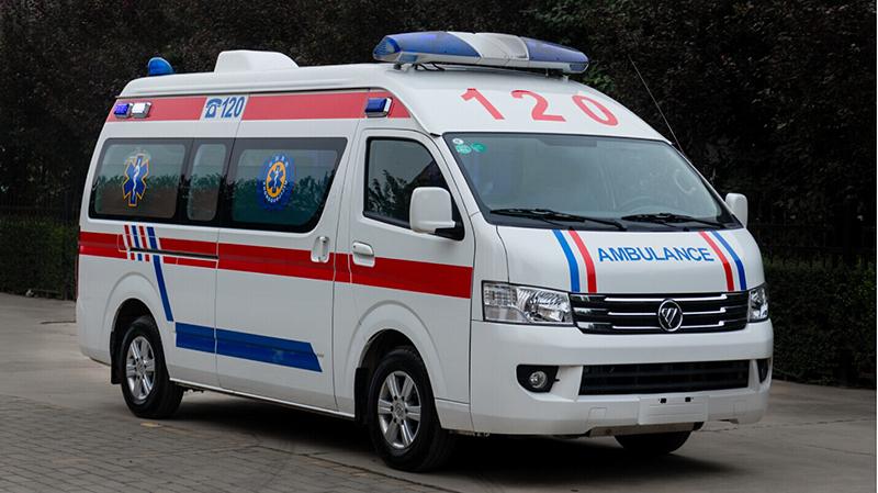 Emergency lights Foton ambulance  vehicle price