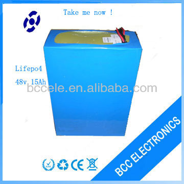 lithium iron phosphate battery 48v electric motorbike battery