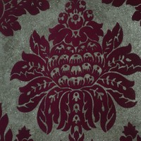 Luxury velvet soft feeling vinyl flock wallpaper