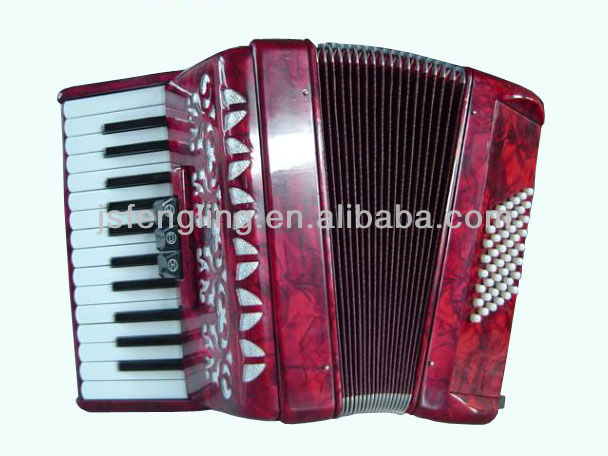 26key 48bass 3/0 registers piano accordion(many colors available)
