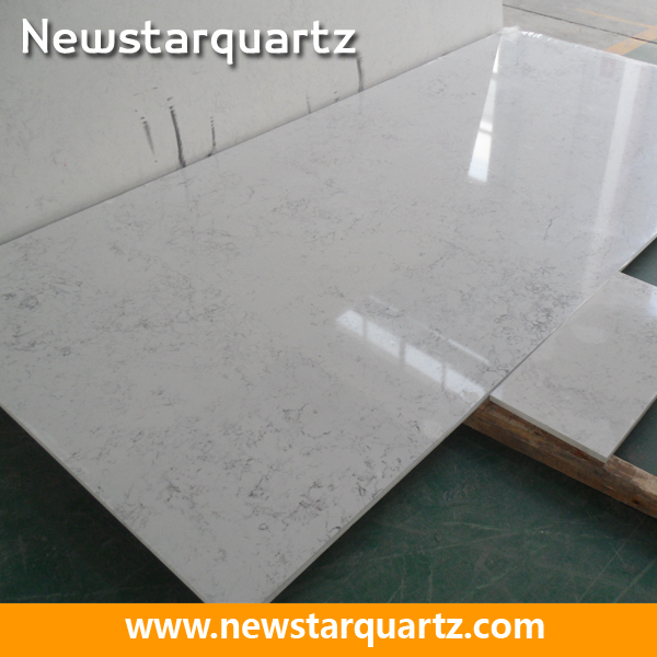 Frosty carrina nq5008x quartz slab for home decoration for Quartz countertop slab dimensions